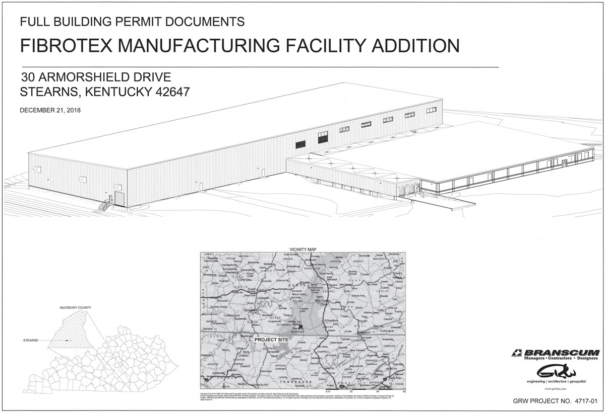 Fibrotex USA Manufacturing Facility architectural rendering.