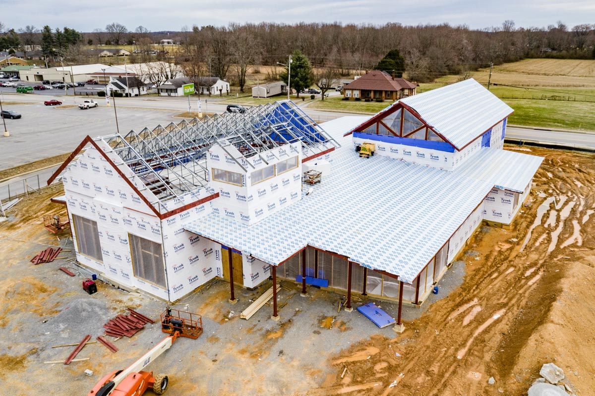 Russell County Library in progress.