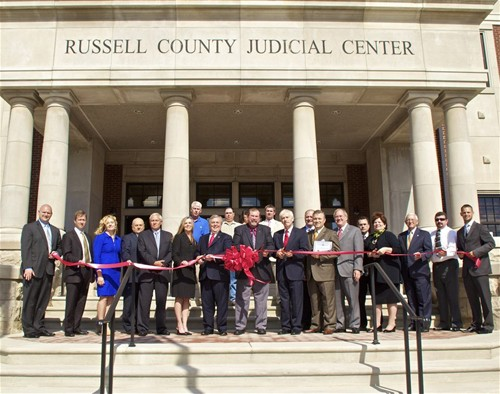 Russell County Judicial Center ribbon cutting