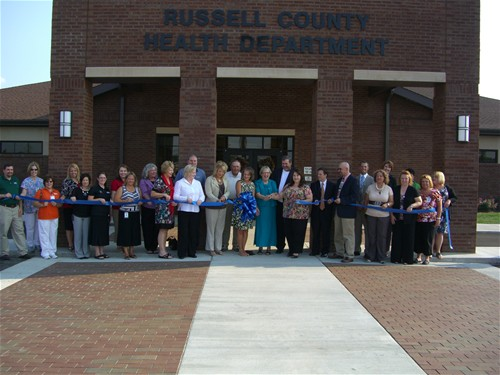 russell county health department ribbon cutting